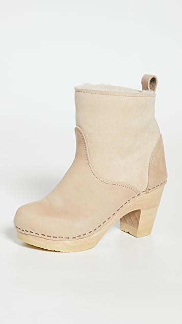 No.6 Pull On Shearling High Heel Booties
