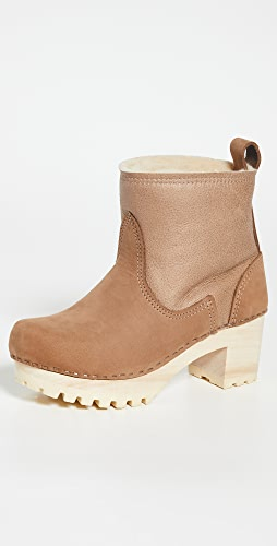 No.6 - Pull On Shearling Mid Tread Clog Boots
