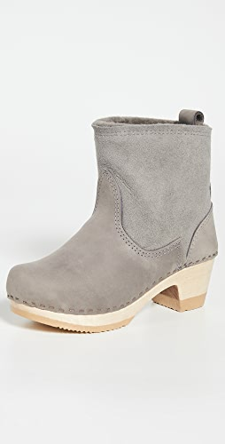 No.6 - Pull On Shearling Mid Heel Boots