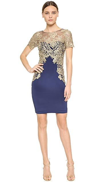 Marchesa Notte Cocktail Sheath Dress