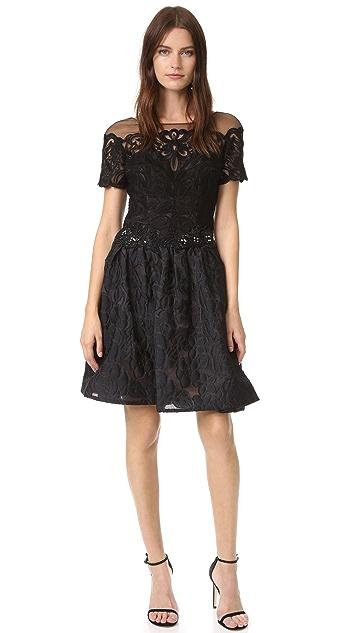 Marchesa Notte Brocade Cocktail Dress