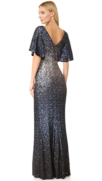 Marchesa Notte Ombre Sequin Gown