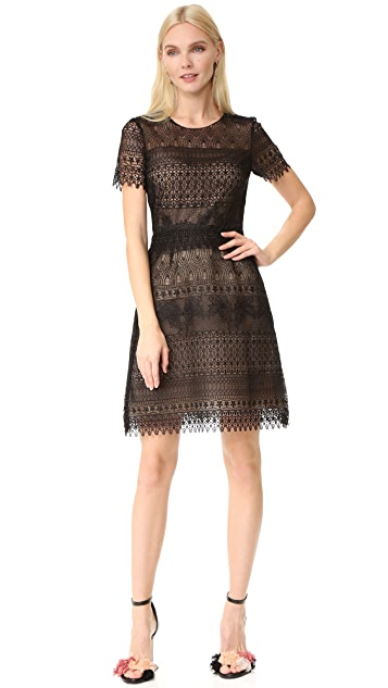 Marchesa Notte Lace Dress