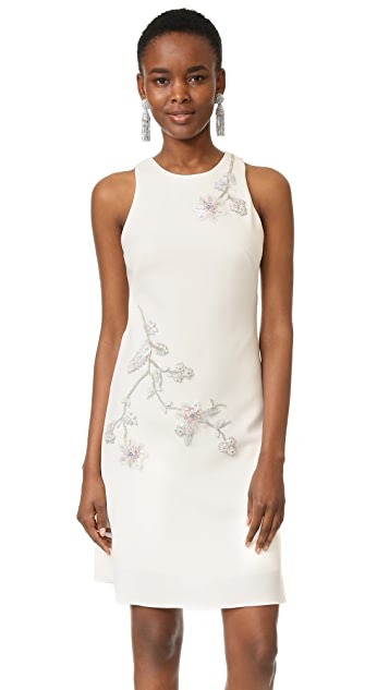 Marchesa Notte A-Line Crepe Dress
