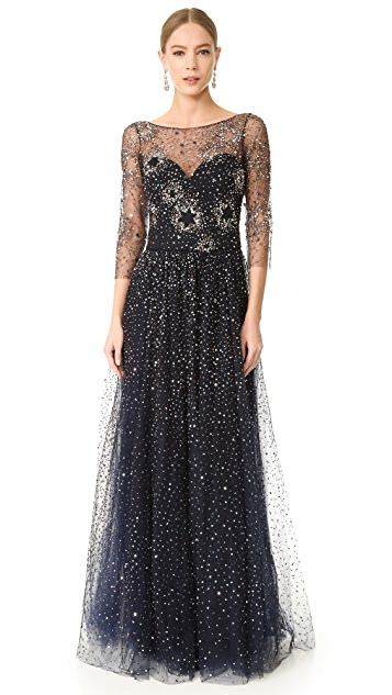 Marchesa Notte Tulle Gown