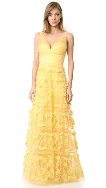Marchesa Notte A-Line Ball Gown