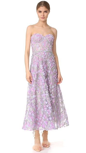 Marchesa Notte Off Shoulder Embroidered Gown ...
