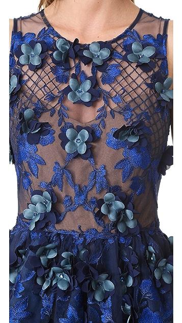 Marchesa Notte Расшитое бисером вечернее платье