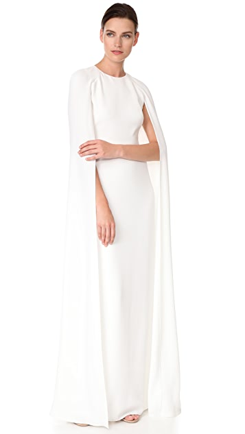 embroidered cape gown - White Marchesa Discount New Styles Find Great Online P1H6Ke8qK5