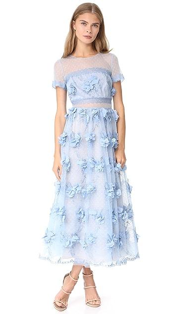 007d207de5d Marchesa Notte 3D Floral Gown