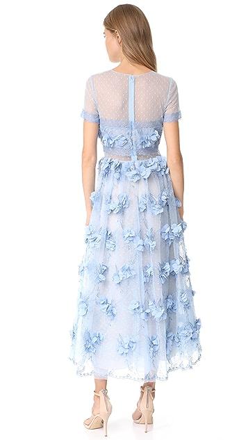 Marchesa Notte 3D Floral Gown