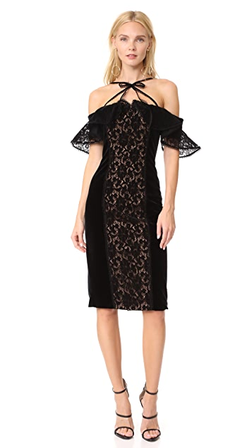 Marchesa Notte French Lace Panel Dress