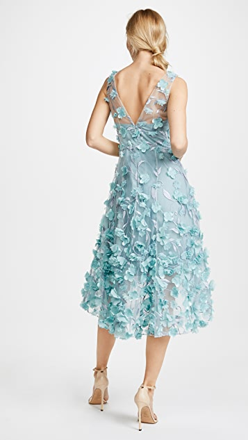 Marchesa Notte High Low Cocktail Dress