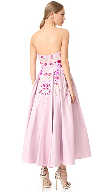 Marchesa Notte Strapless Gown