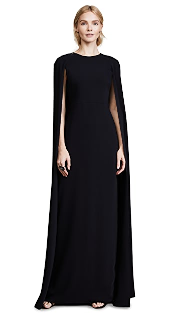 Marchesa Notte Cape Gown