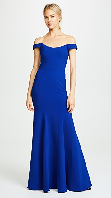 Marchesa Notte Off Shoulder Gown