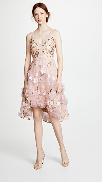 f86a77ad Marchesa Notte Floral Embroidered Cocktail Dress | SHOPBOP
