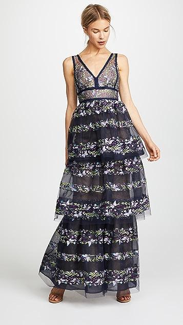 Marchesa Notte Three Tiered Gown