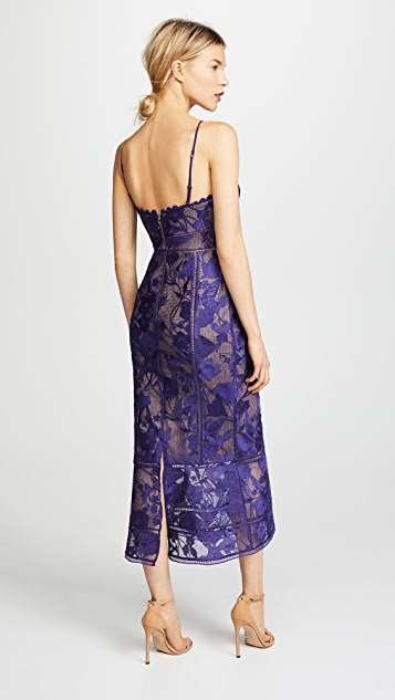 Marchesa Notte Tea Length Cocktail Dress