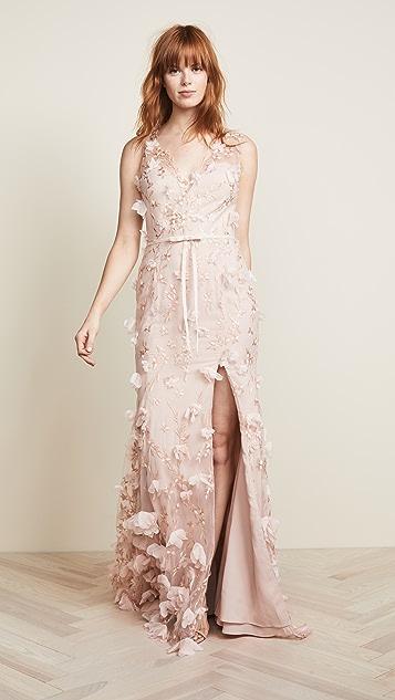 6a612b9e Marchesa Notte V Neck 3D Floral Dress | SHOPBOP
