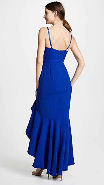 Marchesa Notte Sleeveless Crepe Gown