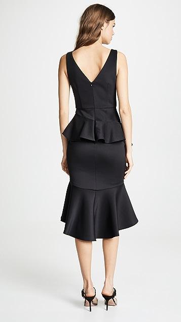 Marchesa Notte Sleeveless Stretch Cocktail Dress