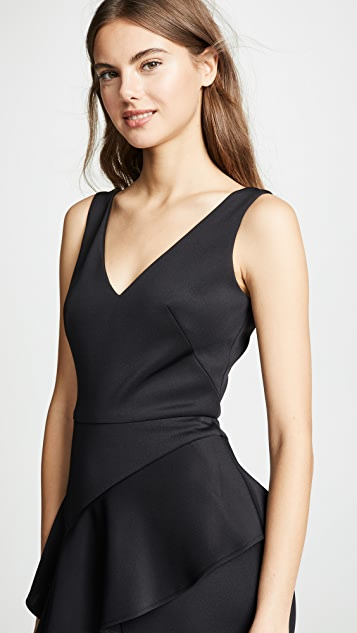 Marchesa Notte Sleeveless Embroidered Stretch Cocktail Dress