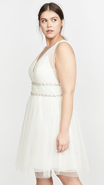 Marchesa Notte Sleeveless Cocktail Dress