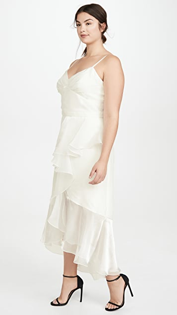 Marchesa Notte High Low Tea Length Gown