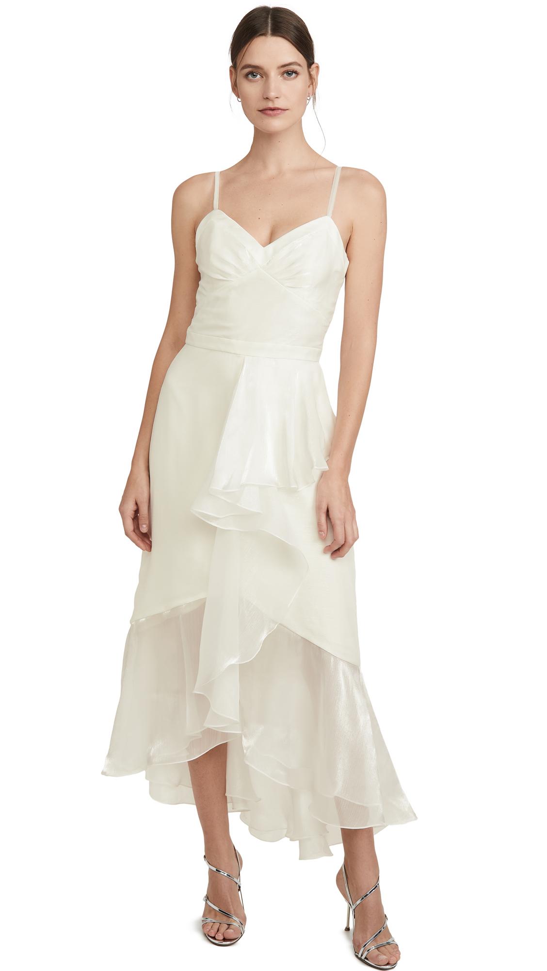 Marchesa Notte High Low Tea Length Gown
