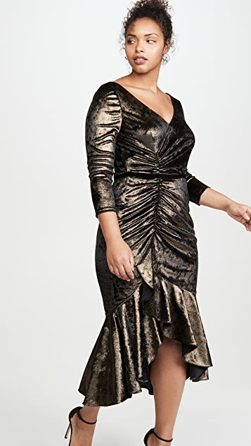 Marchesa Notte Коктейльное платье со сборками
