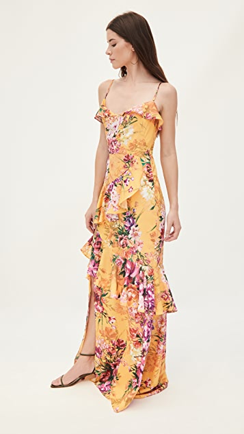 Marchesa Notte Sleeveless High Low Gown