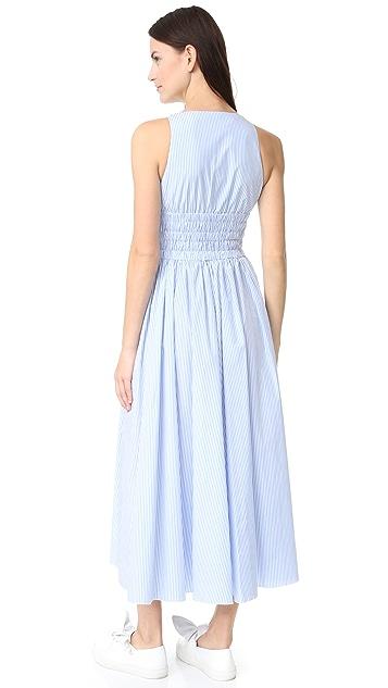 No. 21 Sleeveless Striped Long Dress