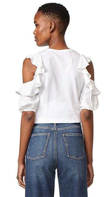 No. 21 T-Shirt with Ruffles