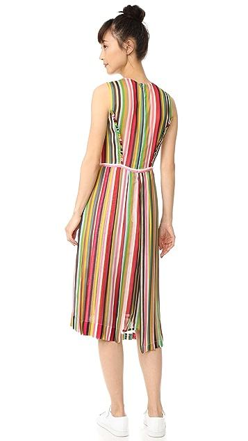 No. 21 Striped Sleeveless Dress