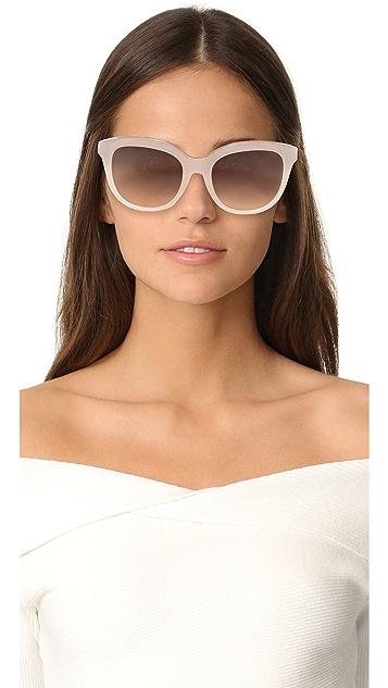 No. 21 Овальные солнцезащитные очки «кошачий глаз»