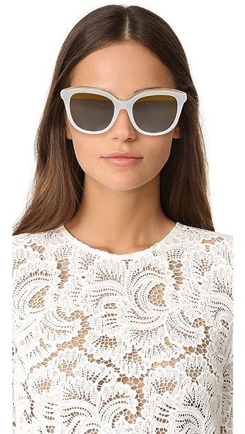 No. 21 Oval Cat Split Sunglasses