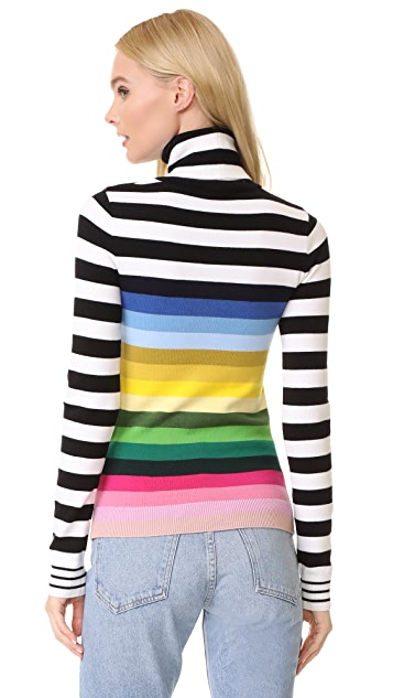 No. 21 Striped Turtleneck