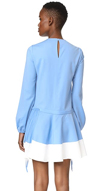 No. 21 Shift Dress with Contrast Hem