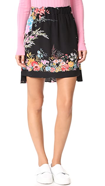 No. 21 Printed Skirt with Pleated Back