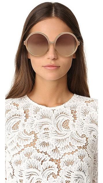 No. 21 Round Oversized Sunglasses