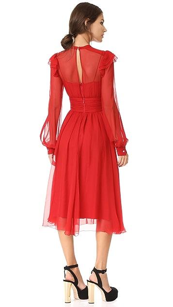 No. 21 Платье с длинными рукавами и оборками