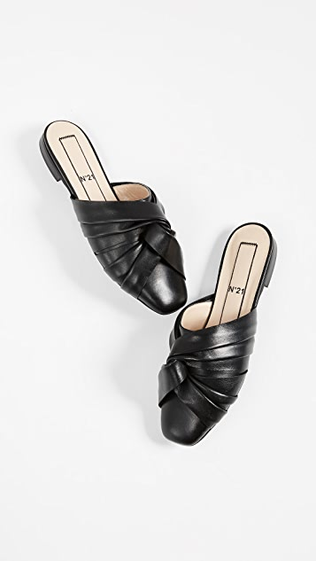 No. 21 Leather Knot Mules