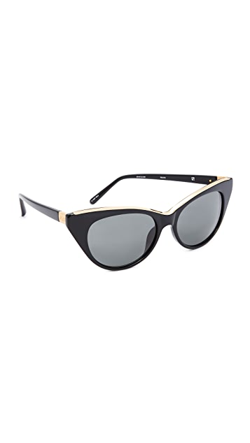 No. 21 Cat Eye Sunglasses - Black/Grey