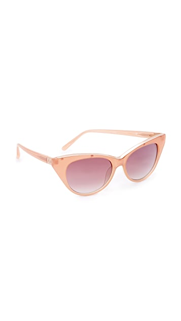 No. 21 Cat Eye Sunglasses - Pink Pearl/Pink Blue