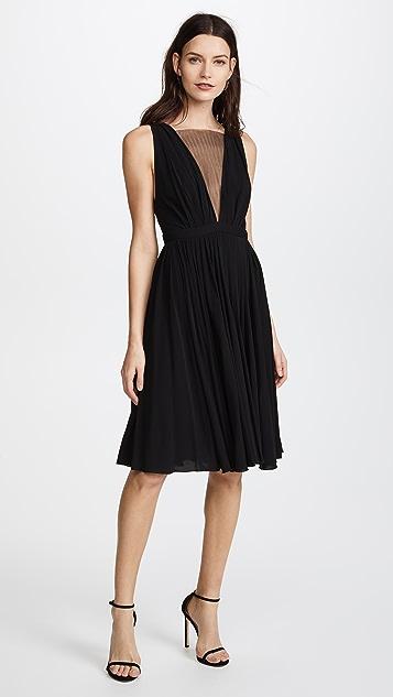No. 21 V Neck Mesh Dress