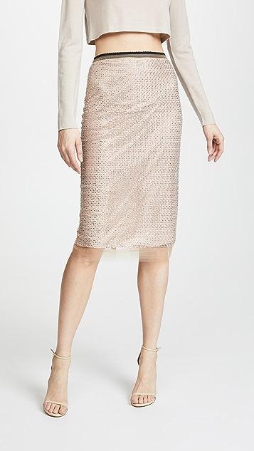 No. 21 Midi Skirt - Biscuit
