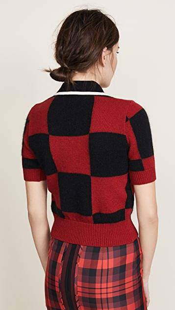 No. 21 Collared Check Sweater