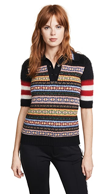 No. 21 Knit Polo Top