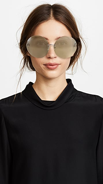 No. 21 Oversized Round Sunglasses